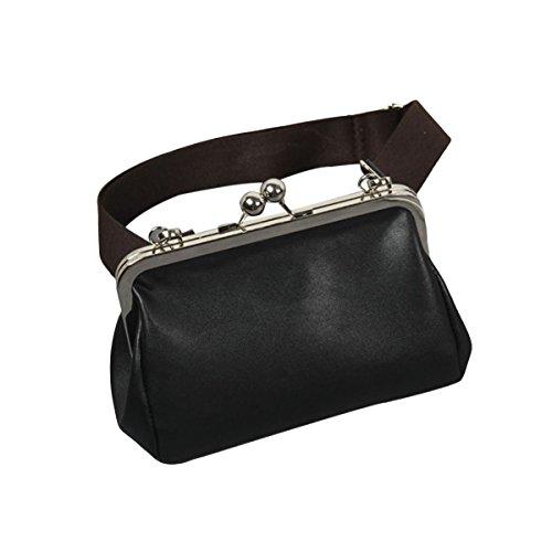 LUOEM Bolso crossbody Bolsas de mensajero ocasionales Bolso de clip ancho de las correas de hombro para las mujeres