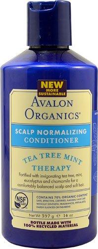 Avalon Organics Therapy Scalp Normalizing Conditioner Tea Tree Mint -- 14 fl oz - ()