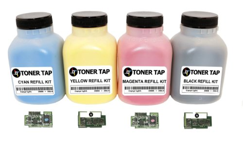 Toner Tap Samsung Clp-415n Clp-415nw, Clx-4195fw Cartridge Clt-504 Toner Refill Kit 4pk (Bcmy) with Chips, Office Central