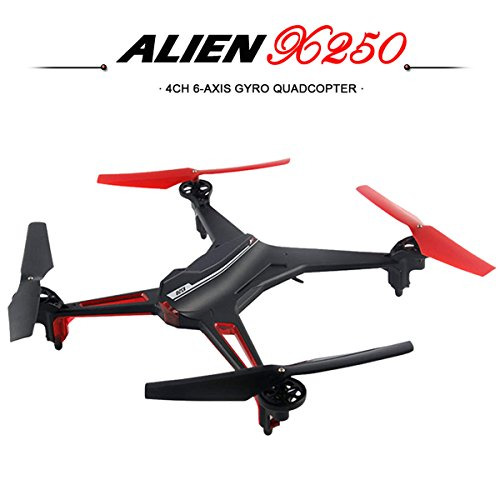 eshion 2.4G 4CH 6 Axis X250 CF Mode Drone Headless RC Quadcopter LED Lights Black