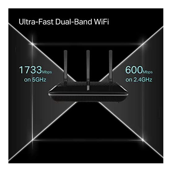 TP-Link AC2600 Smart WiFi Router - High Speed MU-MIMO Router, Dual Band, Gigabit, Beamforming, VPN Server, Smart Connect… 41lVbTOuu9L. SS555