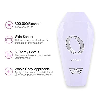 Cinseer IPL Hair Removal Device, Permanent Laser Hair Removal with Goggles for Home Use, Portable Painless Professional Epilator for Face, Body, Bikini or Lip