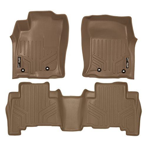MAX LINER A1120/B1040 Custom Fit Floor Mats 2 Row Liner Set Tan for 2013-2019 Toyota 4Runner / 2014-2019 Lexus GX460