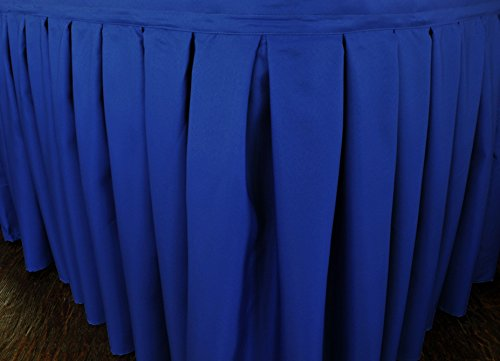 Wedding Linens Inc. Accordion Pleat Polyester Table Skirt for Wedding Party Banquet Events (17 ft. x 29-inch, Royal - Table Polyester Skirts 100%