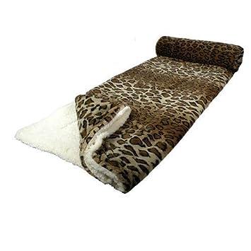 Il Coccolo Plaid.Il Coccolo 33510 Plaid 130 X 160 Cm Modele Motif Leopard Marron Blanc