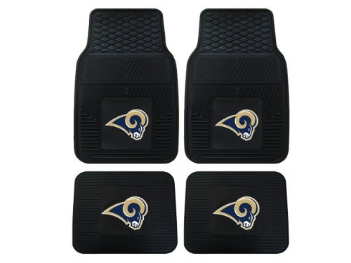 A Set of 4 NFL Universal Fit Front and Rear All-Weather Floor Mats - St. Louis Rams