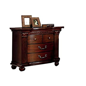 BOWERY HILL 3 Drawer Nightstand in Cherry