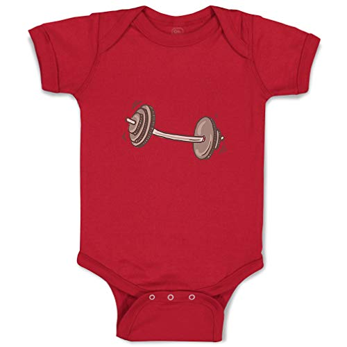 Custom Boy & Girl Baby Bodysuit Barbell Funny Cotton Baby Clothes Garnet Design Only 6 - Garnet Barbell
