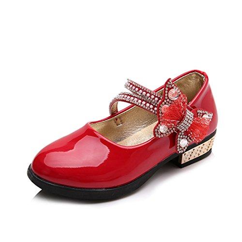 Jasmine Sparkle Child Shoes - O&N Children Girls Princess Dress Up Shoes Mary Jane Dance Shoe for Toddler/Little Kid/Big Kid