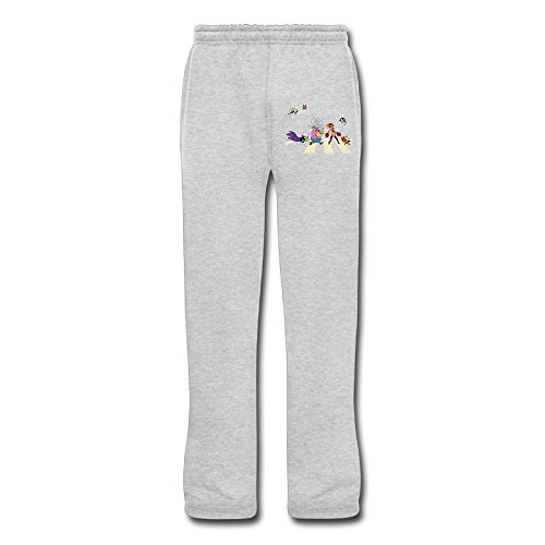(DHome Men's Running Pants Power Girls Ash)