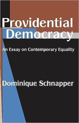 Providential Democracy An Essay On Contemporary Equality Dominique  Providential Democracy An Essay On Contemporary Equality Dominique  Schnapper John Taylor  Amazoncom Books