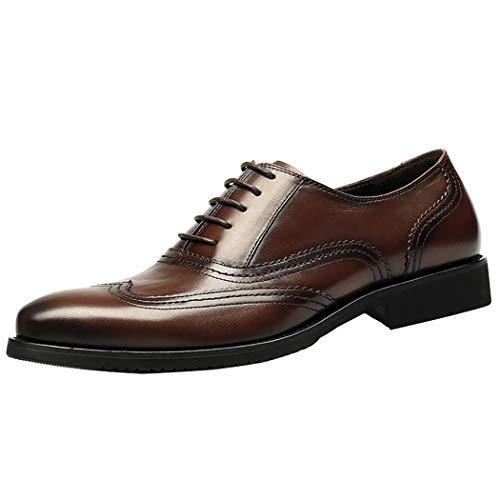 Scarpe In Pelle Uomo Brogues Stile Classico Scarpe Formali Lace Up-Facile Da Usare, Perfetto Per Viaggiare-Classic Gentleman ' S Accessorio Brown