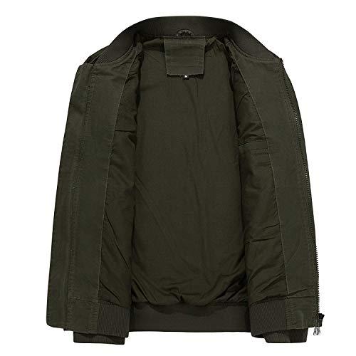 Cotton Haidean Hombres Loose Otoño Chaquetas Verde Collar Wild Way Casual Modernas The Clothes Escape CtqarFt