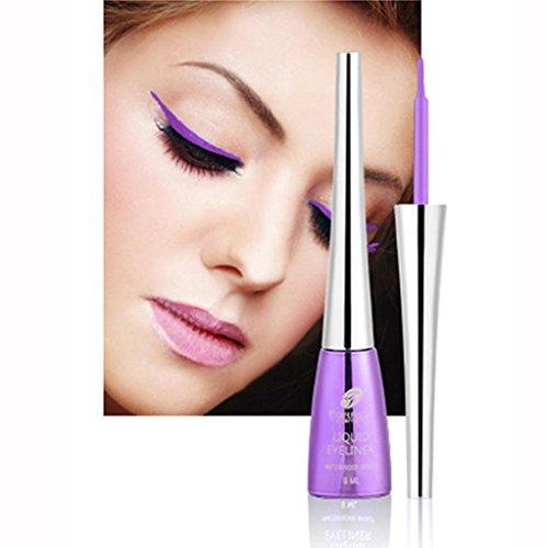 Eyeliner,lotus.flower 2018 New 6 Colors Waterproof Eye Makeup Pearlescent Monochrome Smoky Eyes Eyeshadow Liquid Eyeliner Cosmetic (A)