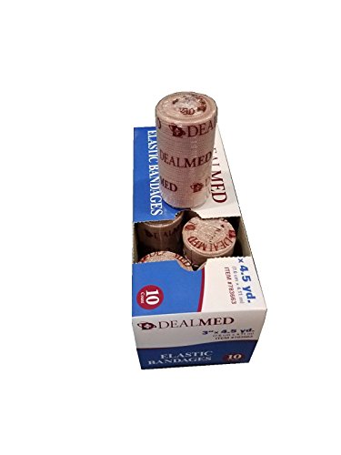 Elastic Bandage Wrap, Comfort-Stretch, Compression Roll, 4
