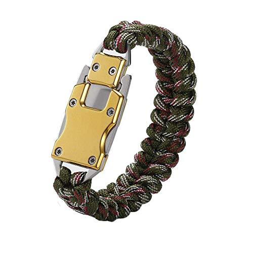WEREWOLVES Paracord Rope Bracelet Survival Bracelets Multitool Survival Gear Tactical EDC Bracelet Camping Paracord Bracelet for Men Gift (Camouflage) ()