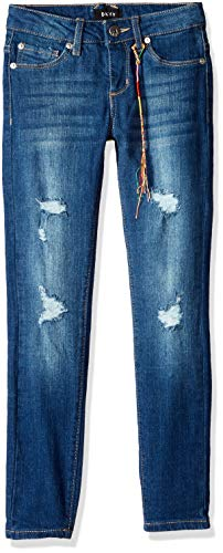 DKNY Girls' Big Chrystie Super Skinny Jean, Indigo Light, 8
