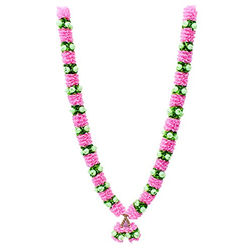 - The Holy Mart Pink Ribbon, Mogra Garland Mala/Haar (Human Size) Bridegroom mala | Mala for God in Temple | Mala for Pictures | Mala for Drama Costumes| Home & Temple Decoration