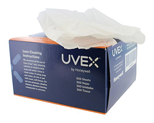 Honeywell S462 Uvex Clear Lens Cleaning Tissues 500 Sheets 1-Pack