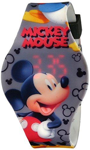 Disney Kids' MCH3401 Mickey Mouse Digital Display Analog Quartz Grey Watch (Mouse Grey Rubber)