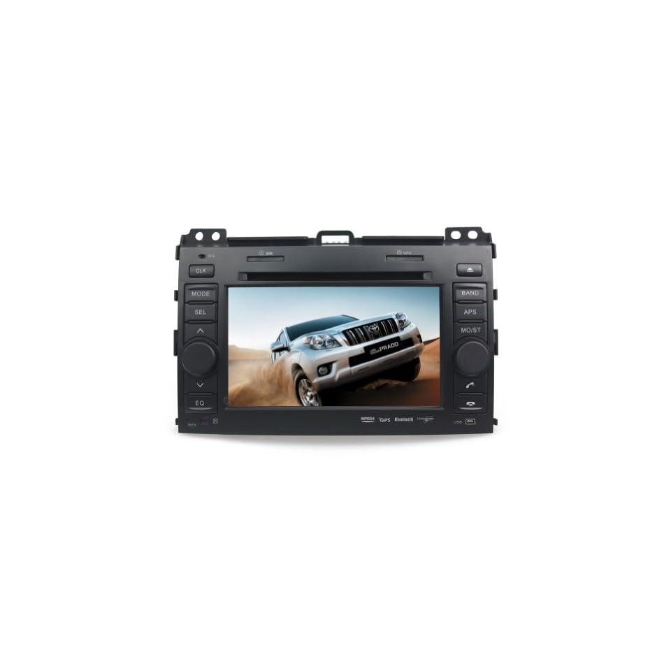 Tyso For TOYOTA Land Cruiser Prado (2003 2009) 7 CAR DVD Player GPS Bluetooth Free Map CD6016G
