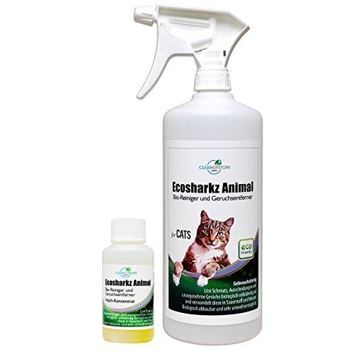 Geruchsneutralisierer Spray für Katzen - natürlicher Katzenurin Entferner - gegen Katzenklo Geruch (40ml Konzentrat ergeben 1-2 Liter gebrauchsfertigen Katzenurin Geruchsentferner)