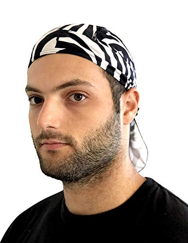 PAIRFORMANCE Beanie Bandana Skull Cap Rag for Men & Woman (Zebra)