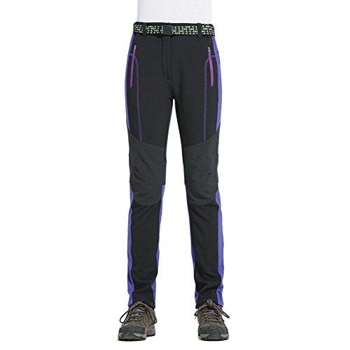 Lakaka Hiking Trousers Women Softshell Waterproof Windproof Fleece Lined Outdoor Skiing Thermal Sport Pants