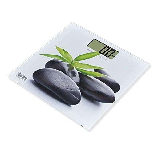 TM Electron TMPBS013 - Báscula de Baño Zen de Cristal, Color Blanco - 161 gr: Amazon.es: Salud y cuidado personal