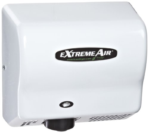 American Dryer ExtremeAir EXT7-M Steel Cover High-Speed Automatic Hand Dryer, 12-15 Second Dries, 100-240V, 540W Maximum Power, 50/60Hz, White Epoxy Finish