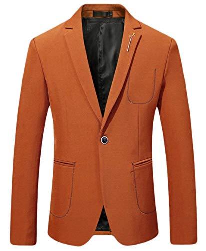Slim Homme D'affaires Jacket Longues Couleur Décontracté Loisirs Garçons Bouton De Pour 1 1 Classique Blazer Manches Fit Suit w8qW5WvPE