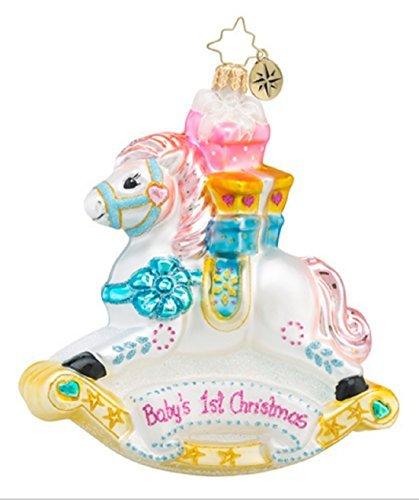 Christopher Radko Rockin' Newborn Rocking Horse Baby's First Christmas Glass Christmas Ornament - 4.5h. by Christopher ()