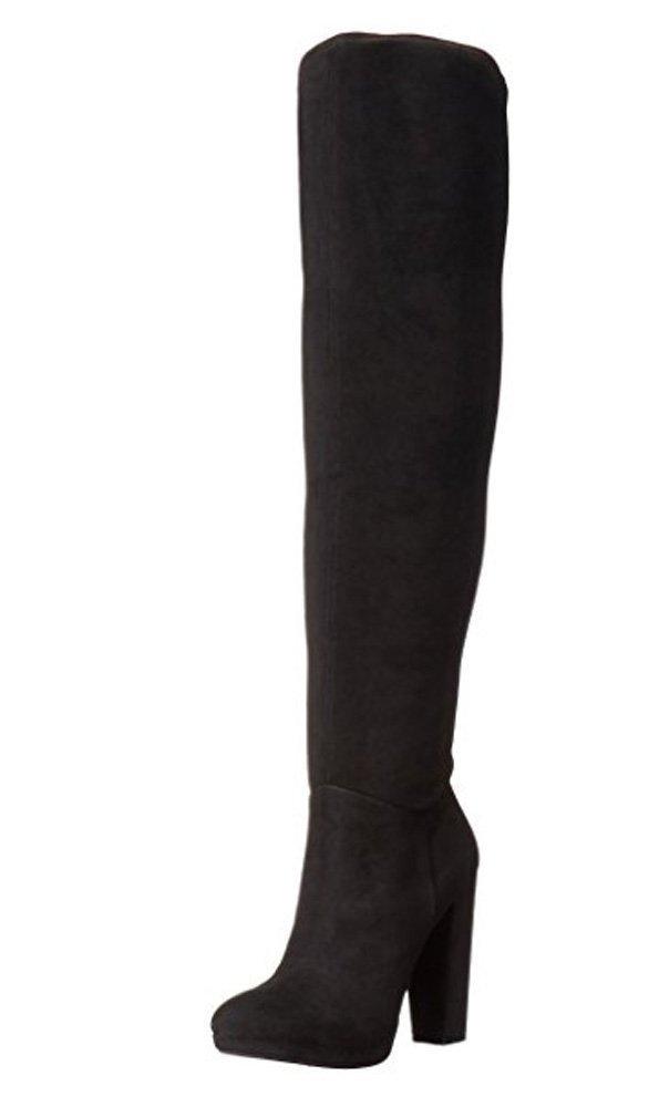 Jessica Simpson Women's Grandie Winter Boot, Black/Black, 7 M US