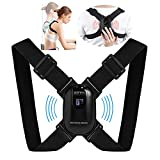 Smart Posture Corrector with Sensor Vibration Reminder for Men and Women, Backmedic Back Straightener Posture Trainer for Teens Kids with Adjustable Angle and Strap (Universal)