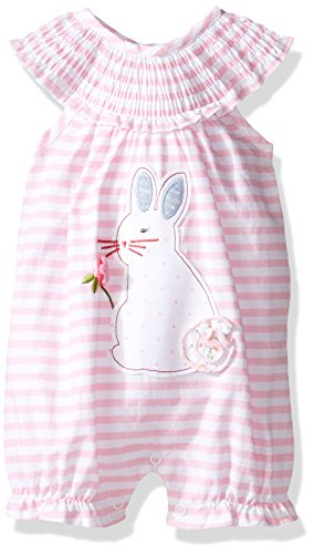 Easter Bunny Bubble - Mud Pie Baby Bubble Romper, Easter Bunny, 6-9 Months