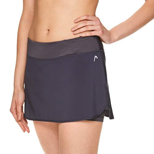 (HEAD Women's Athletic Tennis Skort - Performance Training & Running Skirt - Spike Medium Grey, Large )