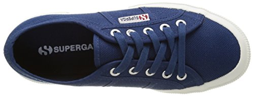 Superga Blue Classic Low 2750 Blue Adults' Cotu Top Unisex Sneaker Mid BBa8q1