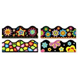 Terrific Trimmers Border, 2 1/4 x 39'''', Bright On Black, Assorted, 48/Set, Sold as 48 Each
