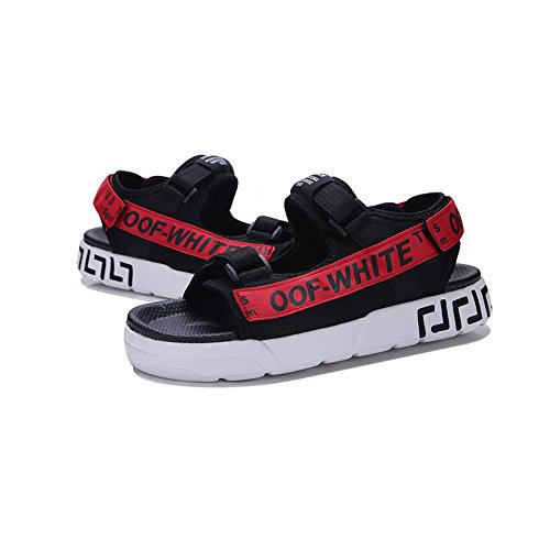 YQQ Playa Antideslizante Hombres Casuales Zapatos Zapatos Acogedor Zapatos De Juventud Verano De Moda Zapatos Masculinos De Chico De Sandalias Rojo Vacaciones Zapatillas qCwqSAr