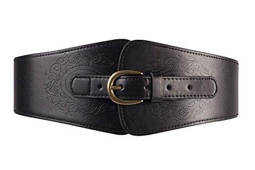 Wide Black Retro Elastic Stretch Waist Band Corset Belt - 4