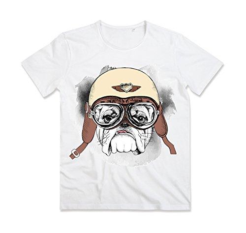 Dog Largo T Collo Aviation Maglia Tshirt Maglietta shirt Bughyprint Leggera wRxqzY6gn