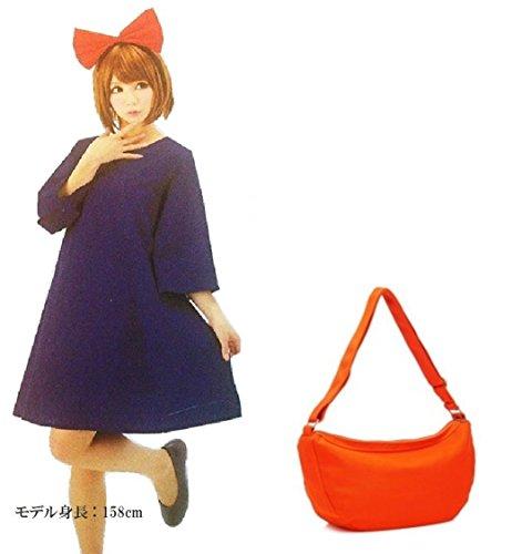 [ELEEJE] home Halloween cosplay Kiki wind witch girl one-piece headband bag with 3-point set costume fancy dress Witch's Kiki's delivery (Fancy Dress Free Delivery)