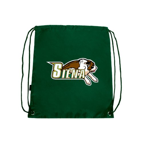 CollegeFanGear Siena Dark Green Drawstring Backpack 'Official Logo'