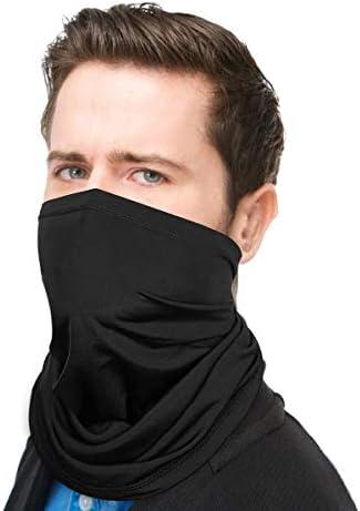 STER-TSP 2PCS Face Cover Headwrap Football Team Sports Bandana Balaclava Scarf 3D Print Neck Gaiter for Men and Women