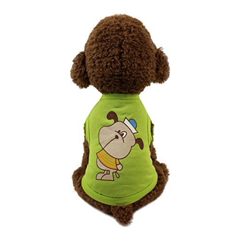 Midwest Express Airlines - Hot Sale Fashion New Pet Clothes Cute Lovely Pet Dog Cat T-shirt Clothing Small Puppy Costume by Neartime (XS, green)