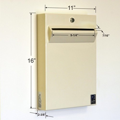 Protex LPD-161 Safe Low-Profile Wall Mount Drop Box by Protex (Image #1)