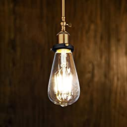 Antique LED Bulb, Oak Leaf 4w ST64 Vintage Edison Light Bulb LED Lighting Soft White 2700K pack of 6