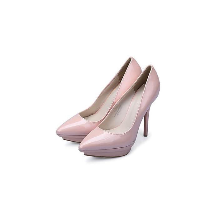 Lvyuan-ggx Scarpe Donna-scarpe Col Tacco-formale casual Serata E Festa-tacchi plateau A Punta-a Stiletto-finta Pelle-blu verde Rosso Silver Us4-4 5 Eu34 Uk2-2 5 Cn33
