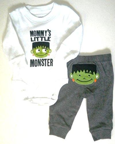 Mommys Little Monster Baby Halloween Costume Carter's 2 Pieces Frankenstein (6 -