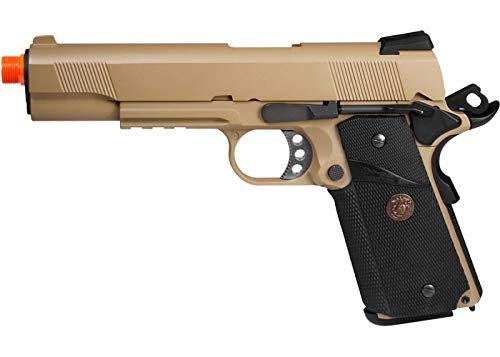 we full metal 1911 meu desert gas pistol w/rail airsoft gun(Airsoft Gun)